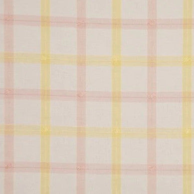 Guildford Plaid Yellow Pink White - Endoflinefabrics
