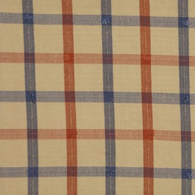 Guildford Plaid Ginger China  Blue Natural - Endoflinefabrics