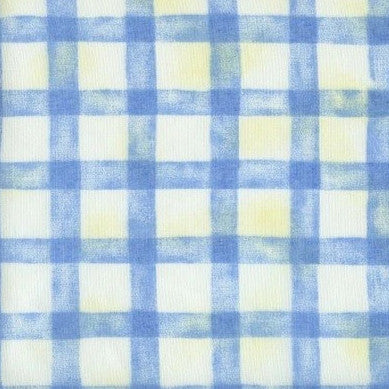 Criss Cross Blue Voile - Endoflinefabrics