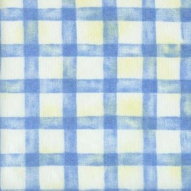 Anna French - Criss Cross Blue Voile - 1.5mt Remnant