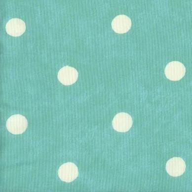 Anna French - Polka Dot Turquoise - 2.2mt Remnant