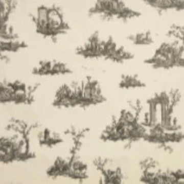 Black Natural Toile - Endoflinefabrics