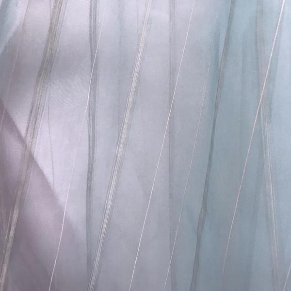 Blue Selki by Osborne & Little is an extra wide striped Voile