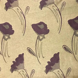 Bill Beaumont Fabrics - Grape Melody - 1.6mt Remnant