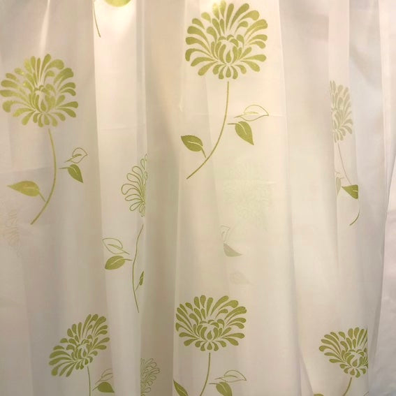 Carnation Green Voile