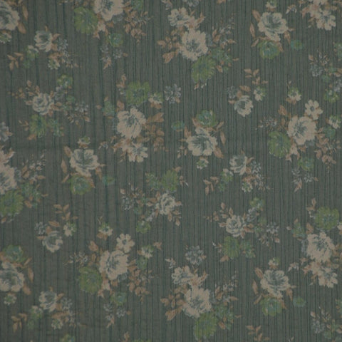 Chiffon Floral Yoryu Dress Fabric Green - Endoflinefabrics