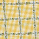 Academy Clairtex  -Country Gingham Plaid Citrus Yellow - 2.9mt Remnant