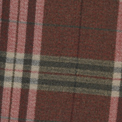 Tartan Red Wool - 4mt Remnant