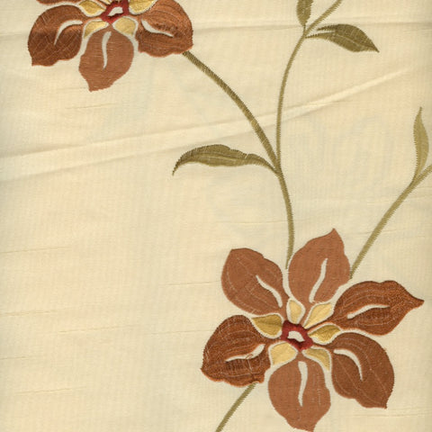 Stunning Cream Embroidered Silk - 1.8mt Remnant