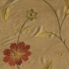 Stunning Beige Embroidered Silk - 5mt Remnant
