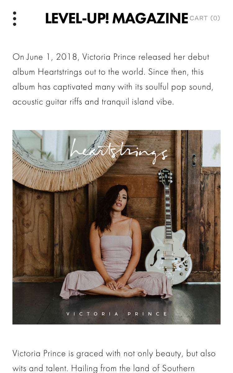 Level-UP! Magazine Review of my Debut Album HEARTSTRINGS!