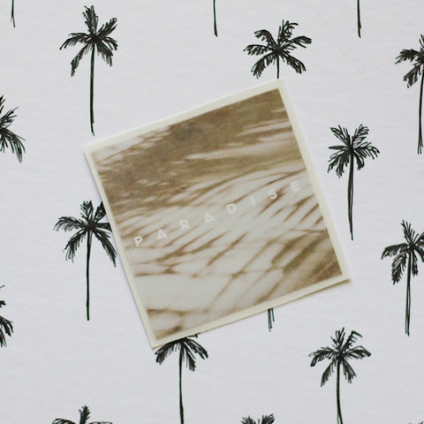 Sandy Palm Paradise Sticker