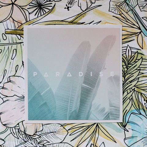 Banana Leaf Paradise Sticker
