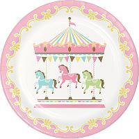 Carousel Vintage First Birthday Girl Party Supplies