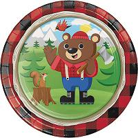 Lumberjack Buffalo Plaid Themed First Birthday Party Supplies