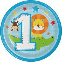 One is Fun Boy Jungle Themed 1st Birthday Party Supplies