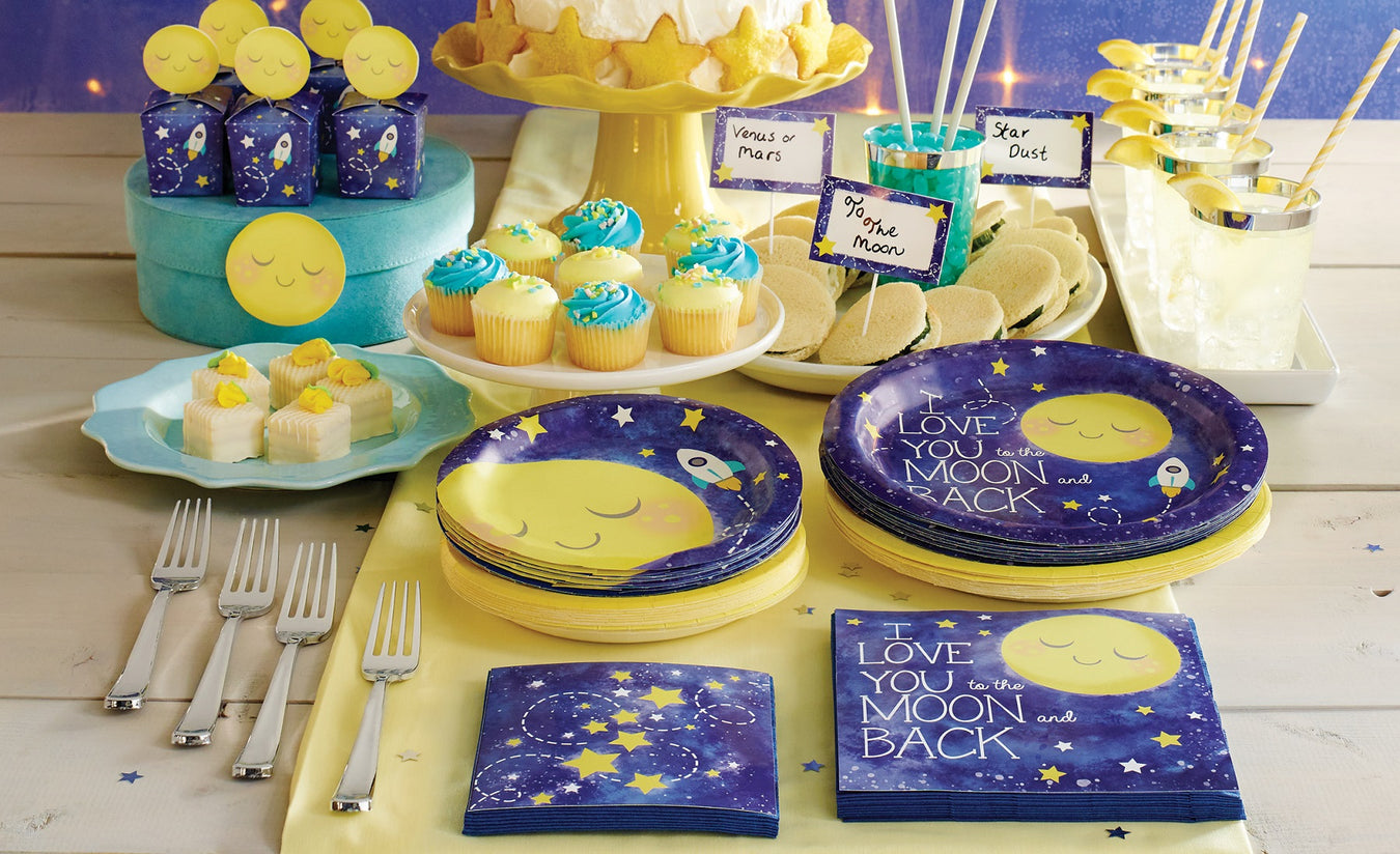 To the Moon and Back Baby Shower Supplies Canada