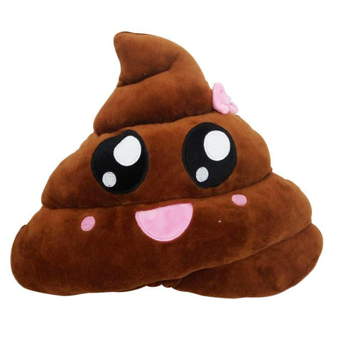Emoji Poo Pillow