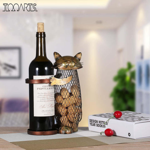 The Purrfect Cat Wine Stand