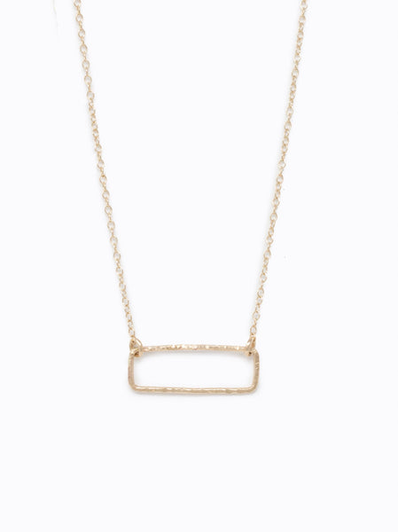 Floating Rectangle Necklace