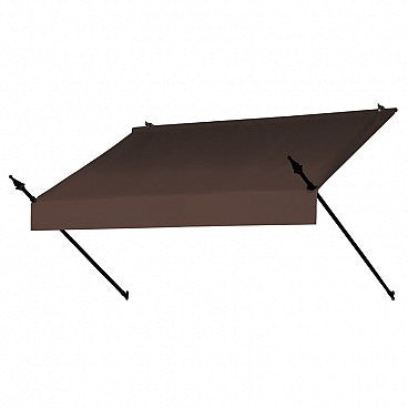 6-Ft. Designer Window Awning-Cocoa
