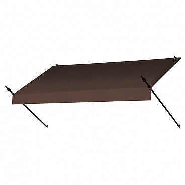 8-Ft. Designer Window Awning-Cocoa