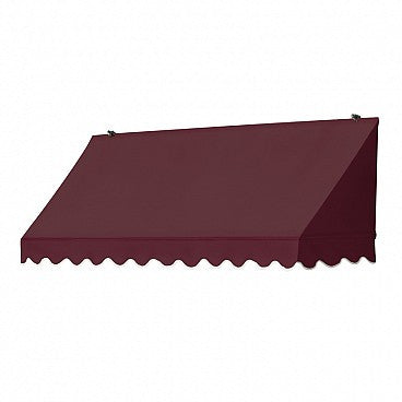 6-Ft. Traditional Window Awning-Burgundy