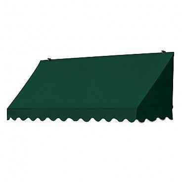 6-Ft. Traditional Window Awning-Forest Green