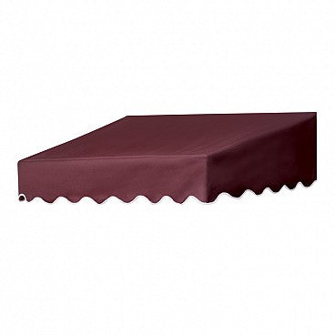 4-Ft.Traditional Door Canopy-Burgundy