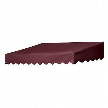 6-Ft.Traditional Door Canopy-Burgundy