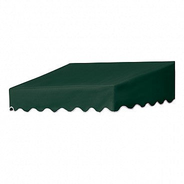4-Ft.Traditional Door Canopy-Forest Green