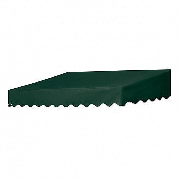 6-Ft.Traditional Door Canopy-Forest Green