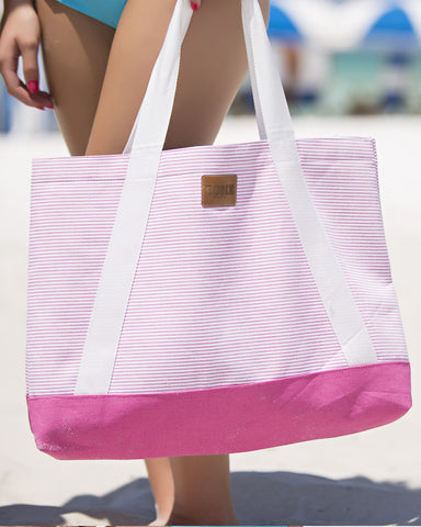 ROSIE GETAWAY NAUTICAL TOTE (PINK)