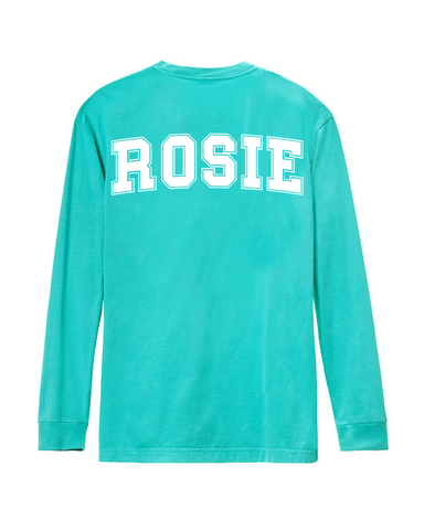 Long Sleeve Rosie Tee (Carribean)