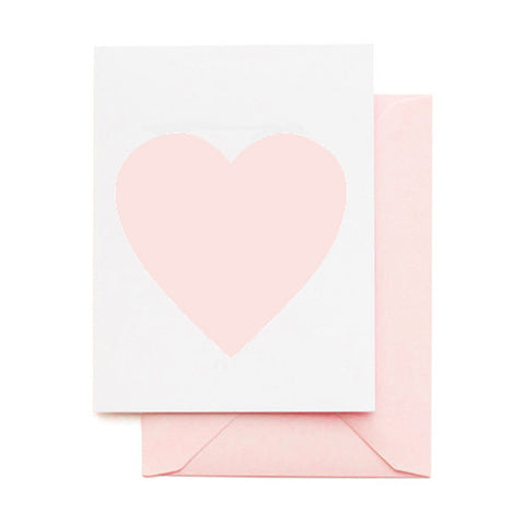 SOFT PINK HEART CARD