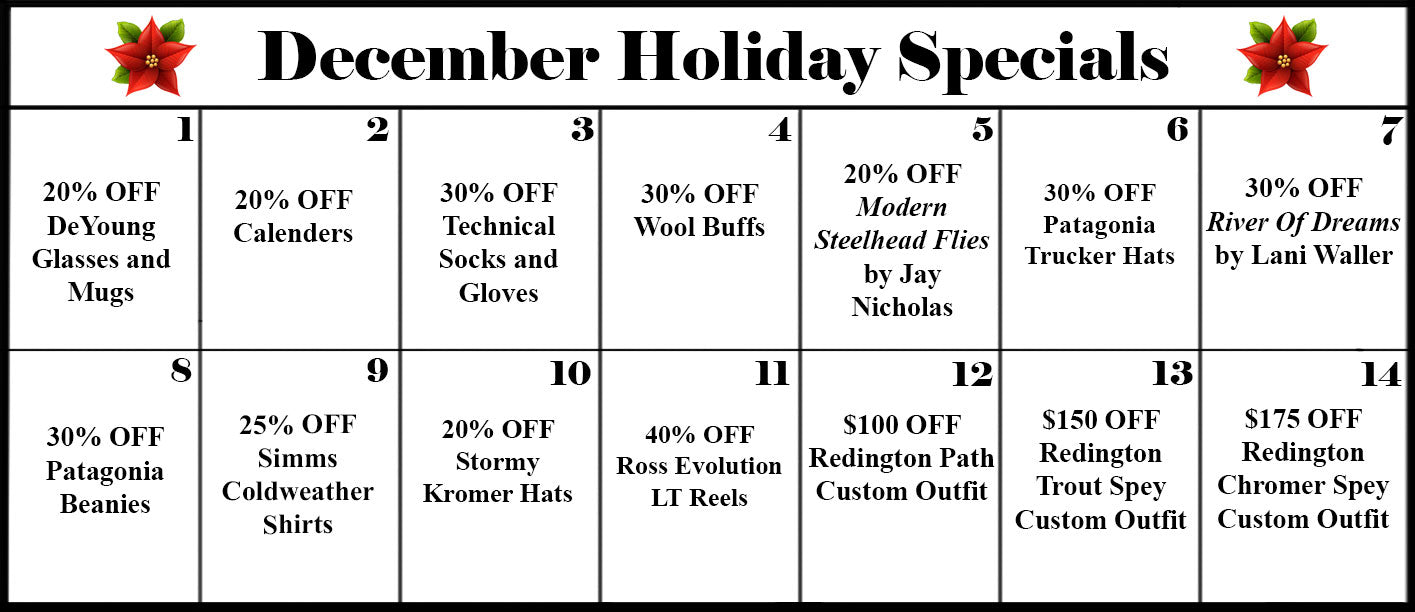 Ashland Fly Shop | December Holiday Specials