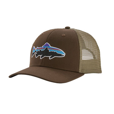 Brown Patagonia Trout Trucker Hat