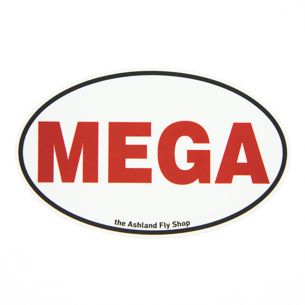 "MEGA Sticker - Use Code ""megaman"" for free shipping on this product."