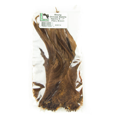 Strung Chinese Saddle Hackle 5-7""
