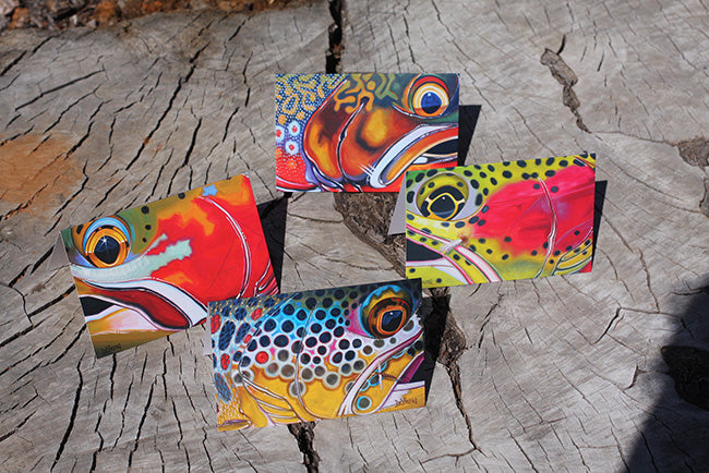 DeYoung Fish Face Notecards
