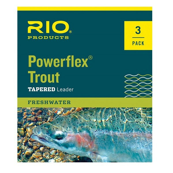 Rio Powerflex Trout Knotless Leader 3 pack