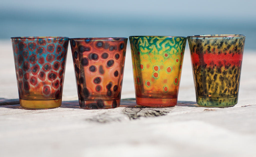DeYoung Fish Flank Shot Glasses