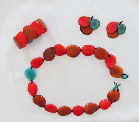 Red Tropical Ivory Set