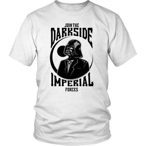 Join The DarkSide - bbuzz.me - District Unisex Shirt / White / S - 1