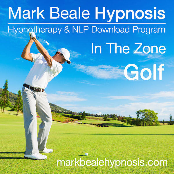 Golf self hypnosis cd mental game inner game sports psychology hypnotherapy audio download