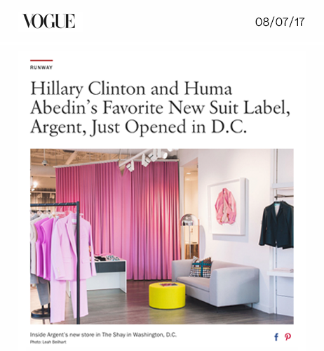 Hillary Clinton and Huma Abedin's Favorite New Suit Label, Argent, Just Opened in D.C.
