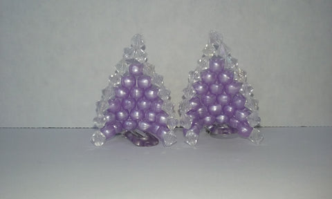 Diamond and purley purple cat ears