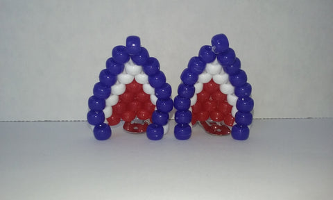 Red, white and blue cat ears