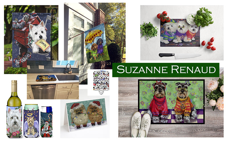 Products featuring artwork from Suzanne Renaud available from Caroline's Treasures