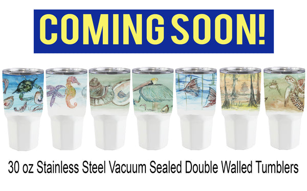 30 oz Stainless Steel Double Walled Vacuum Sealed Tumbers